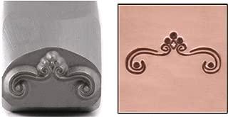 Beaducation Flourish Metal Design Stamp, 12mm Curved Bracket Border Line Decorative Embellishment Punch Stamping Tool for Hand Stamped DIY Jewelry Crafts Original Metal Design Stamps