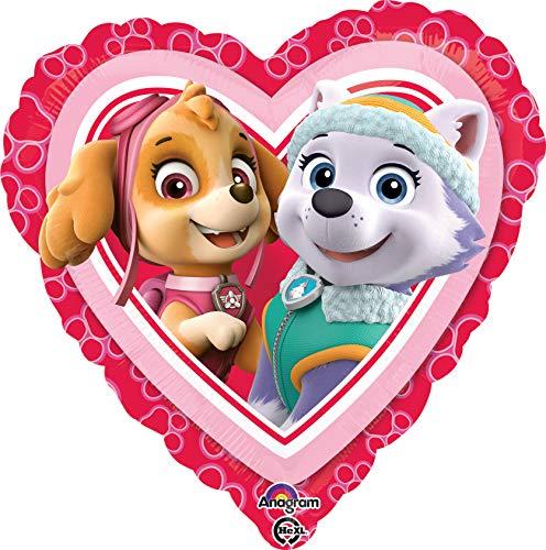 Patrulla Canina - Globo corazón, color rosa (Anagram 34302-01)