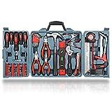Hi-Spec Maletín Caja de Herramientas Completa 71 en Uno para Reparaciones del Hogar, Bricolaje, Carpintería, Fontanería, Reparación de Bicicletas