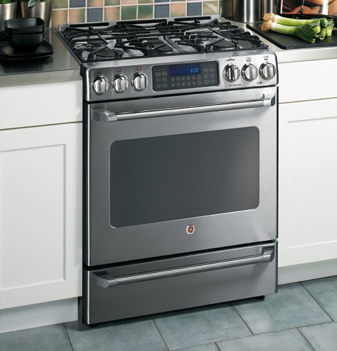 GE Cafe : C2S980SEMSS 30 Free Standing Dual-Fuel Range w/5 Sealed Burners