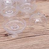 STOBOK 12pcs Mini Tortenständer Kuchenglocke Plastikglocke mit Teller Hochzeit Party Servierplatte (Transparent) - 2