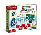 Clementoni- Sapientino Letras táctiles Montessori 3 años, Juego Educativo para Aprender el Alfabeto, Desarrollo del lenguaje – Fabricado en Italia, Multicolor (16358)