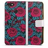 DeinDesign Étui Compatible avec Huawei Y6 Pro (2017) Étui Folio Étui magnétique Roses Floraison...