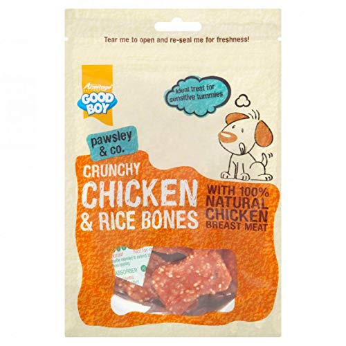 Armitage - Pet Care Good Boy Deli - Fillet di Pollo e Ossa di Riso, 100 g