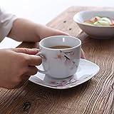 VEWEET Tafelservice 'Annie' aus Porzellan 60 teilig | Kombiservice beinhatlet Kaffeetassen 175 ml, Untertasse, Dessertteller, Speiseteller und Suppenteller| Komplettservice für 12 Personen - 5