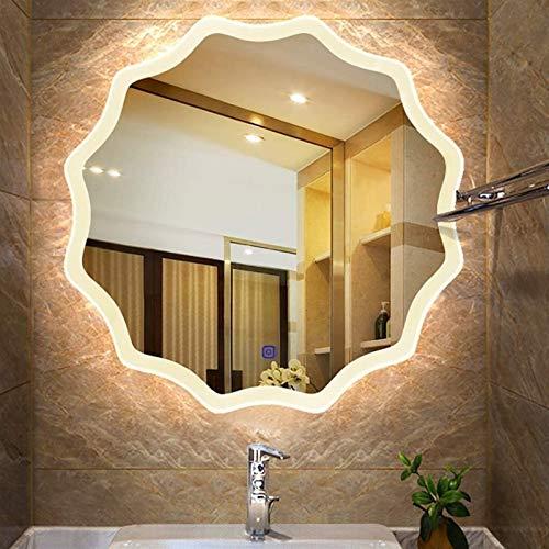 Borde Pulido sin Marco, baño led Espejo montado en la Pared Borde Redondo cordón Borde Arena champas Maquillaje vanidad Espejo HD contemporáneo Simple Decorativo diseño Lavabo Hotel