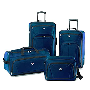American Tourister Luggage Fieldbrook II 4 Piece Set, Moroccan Blue