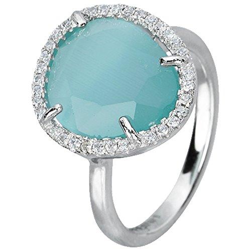 Anello in argento con civetta Mabina Gioielli occhio e zirconi RG 55 523054-15