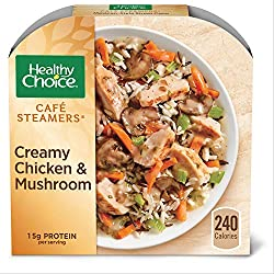Healthy Choice Café Steamers Creamy Chicken Mushroom Frozen Meal, Packed with Protein, 9.25 oz.
