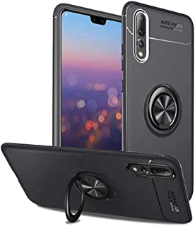 Gooder Case for Huawei P20 Pro 360 Degree Rotating Ring Kickstand Cover with Car Mount Huawei P20 Pro Case-Black