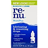 Bausch + Lomb Renu Multiplus Lubricating And Rewetting Soft Eye Contact Lens Drops, 0.27 Oz