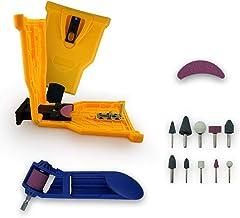 Chainsaw Sharpener Value KIT | Powersharp Chain Saw Blade sharpeners + Electric Drill Bit Files + Sharpening Stone file Gr...