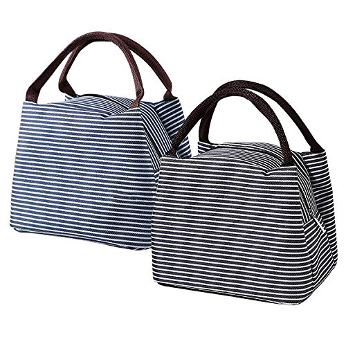 2 Pack Insulated Lunch Bag for Men Women Wide Open Cooler Bag...