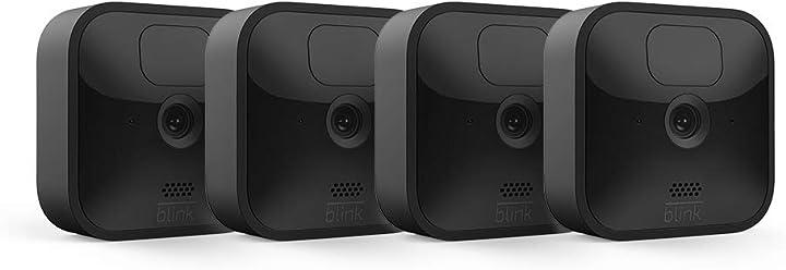 4 videocamere di sicurezza in hd senza fili impermeabile batteria autonomia 2 anni rilevazione movimento