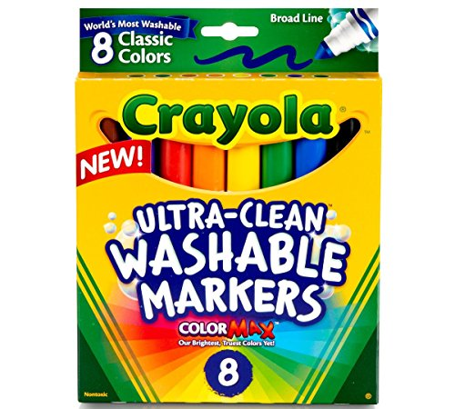 Crayola 587808 Classic Washable Marker 8 Count Markers