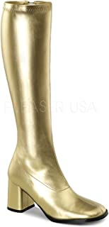Pleaser Usa Inc Women's Gogo Boots Gold Size 9