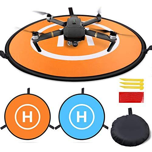 Homga Drones Landing Pad Universal Waterproof D 75cm/30 Portable Foldable Landing Pads for RC Drones Helicopter, PVB Drones, DJI Mavic Pro Phantom 2/3/4/ Pro, Antel Robotic, 3DR Solo (Landing pad)