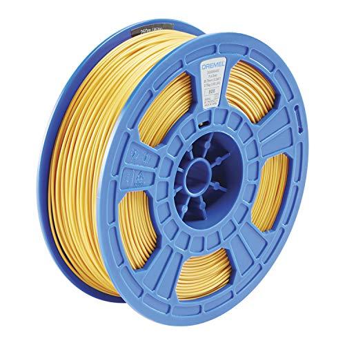 Dremel DigiLab PLA-GOL-01 3D Printer Filament, 1.75 mm Diameter, 0.75 kg Spool Weight, Color Gold, RFID Enabled, New Formula and 50 Percent More per Spool