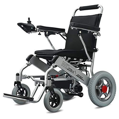 Wheel-hy Silla de Ruedas eléctrica de Aluminio Plegable - Prim Ancho de Asiento 45 cm