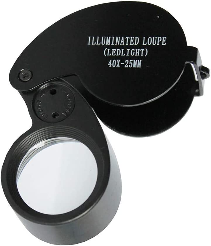 WENJIAN HD Wear-Resistant 40 Times LED Light Jad Dedication Cheap mail order specialty store Jewelry Loupe -