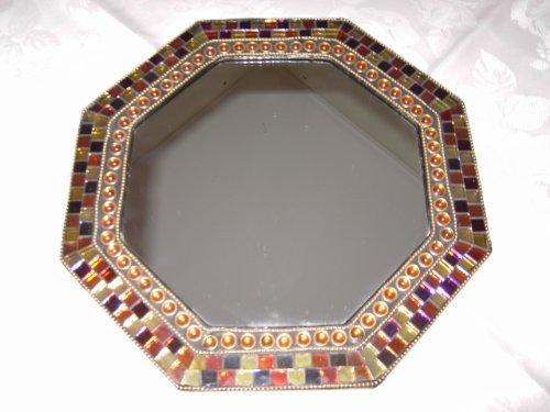 Unbekannt Spiegelschale Bel Mondo - Tablett - Spiegel Glas mit Mosaik