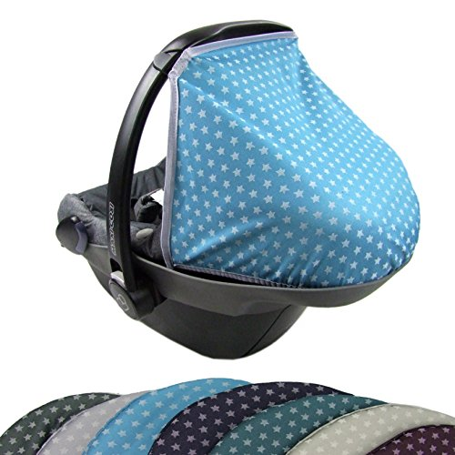 BAMBINIWELT zonnekap UV50+ voor Maxi-Cosi pebble sterren Turquoise ster