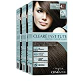 Colour Clinuance. Tinte Capilar Cabellos Delicados. 4.1 Chocolate Frío, Coloración Permanente Sin Amoniaco, Más Brillo, Color Intenso, 100% Cobertura, Testado Dermatologicamente, Pack de 3