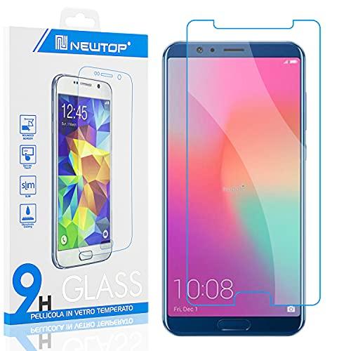 N NEWTOP [1 PEZZO] Pellicola GLASS FILM Compatibile con Huawei Honor View 10, Fina 0.3mm Durezza 9H Vetro Temperato Proteggi Schermo Display Protettiva Anti Urto Graffio Protezione