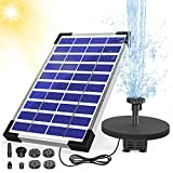 AISITIN 5.5W Solar Fountain Pump Built-in 1500mAh Battery Solar Water Pump Floating Fountain with 6 Nozzles, for Bird Bath, Fish Tank, Pond or Garden Decoration Solar Aerator Pump