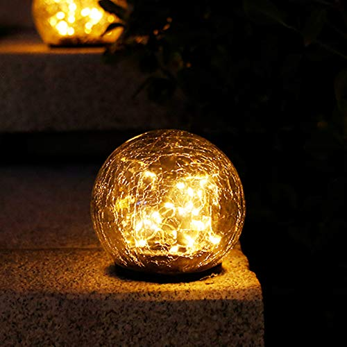 MZ Solar Lights Outdoor,Ball Ground Lamp, Easy-to-Install Waterproof Solar Lighting,with 270° Wide Angle,for Outdoor Garden, Patio, Yard.3.9 * 4.3 * 4.3in