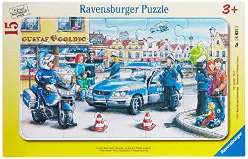 Ravensburger Kinderpuzzle 06037 - Einsatz der Polizei - Rahmenpuzzle