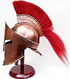 AnNafi Casco medieval griego espartano 300 Movie King Leonidas casco romano cobre con rojo ciruela