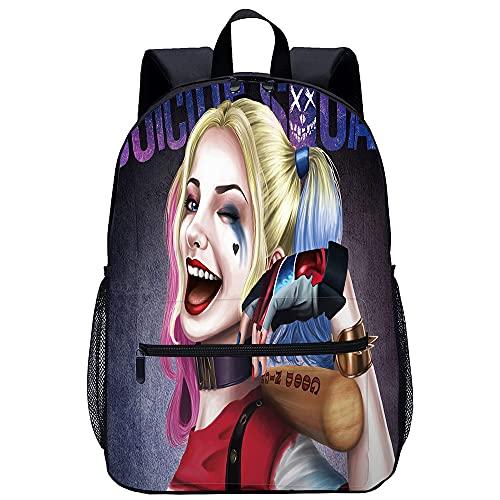 YSSMGS Zaino per adolescenti Harley Quinn Zaino scuola zaino da viaggio zaino da viaggio zaino da viaggio per studenti zaino da viaggio