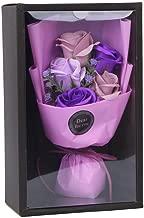 Scrafts Purple 5 Scented Bath Soap Rose Bouquet Gift Box Set