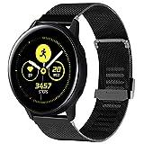 Tosenpo - Correas para Samsung Galaxy Active 40 mm/Active2, Correas de Acero Inoxidable de Repuesto para Reloj Active2/Active/Gear Sport/Gear S2 Classic (Negro)