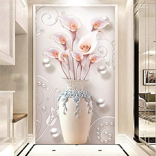 Nicole Knupfer DIY 5D Diamant Malerei-Set Erwachsene Magnolia Vase DIY 5D Diamant Malerei Strass Kristall Handwerk für Heimdekoration, a, 50x80cm