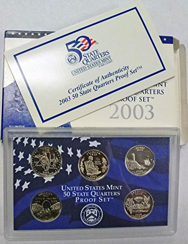 2003 S Statehood Quarters Proof Set Original Mint
