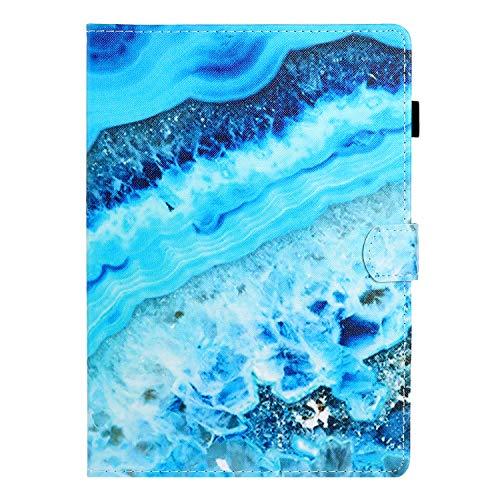 Ostop Compatibile con Cover iPad Mini 1 2 3 4 5 Custodia con Auto Svegliati Sonno [Portamatite] [Supporto Telefono Tablet Orso],Cover Pelle Flip Slim Magnetico Caso,Oceano