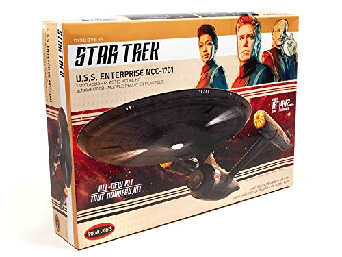 Polar Lights Star Trek Discovery U.S.S. Enterprise 2T scala 1:1000 Set Prop Replica Modello Kit
