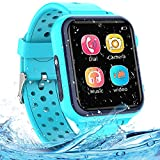 Jaybest Smartwatch Niños, Impermeable Smartwatch para Niños Táctil con Música Vídeo Juegos SOS Modo silencioso Cámara, Reloj Inteligente para Niños Regalo (Blue)