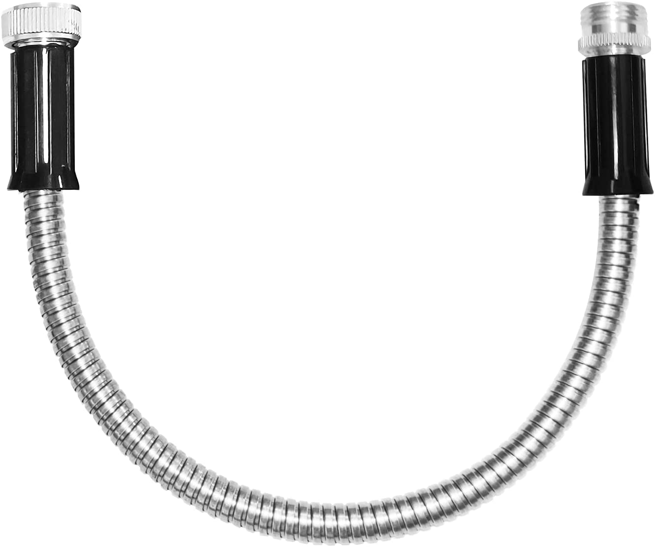 TUNHUI 1 FT Heavy Duty Flexible Metal Garden Hose Stainless Steel Water Hose Durable Lightweight Kink Free and Easy to Store Outdoor Hose