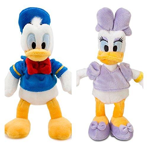 Disney DONALD DUCK und DAISY Mini-Bean-Bag Stoffpuppe Plüschtier Set 20cm