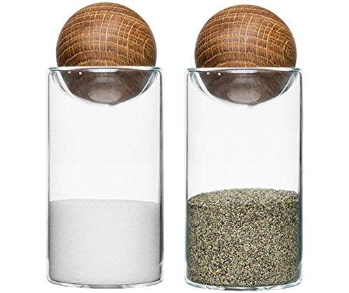 Sagaform Salz-und Pfefferstreuer, Glas, braun/transparent, 4.8x4.8x11.5 cm, 2-Einheiten