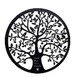 Pared de árbol de la vida de metal, árbol de la vida de metal para colgar en la pared, decoración de pared interior de lirio artístico, pared de árbol de la vida de metal