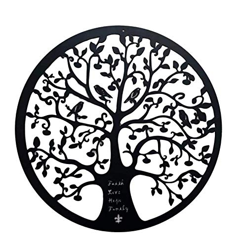 Tree of Life Metal Wall Art,Tree of Life Wall Decor Metal Hanging Artwork Home Decoration,Contemporary Iron Artwork Decor,Celtic Family Trees,Tree of Life Metal Wall Art Hanging Garden Sculptures(1)