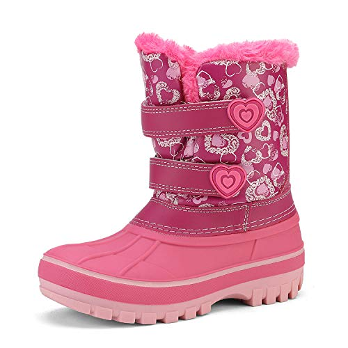 DREAM PAIRS Little Kid Ducko Pink Ankle Winter Snow Boots Size 12 M US Little Kid