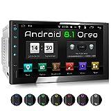 XOMAX XM-2VA754 Autoradio mit Android 8.1, OctaCore, 2GB RAM, 32GB ROM, GPS Navigation I Support: WiFi WLAN, 3G 4G, DAB+, OBD2 I Bluetooth, 7 Zoll / 18 cm Touchscreen, USB, SD, 2 DIN