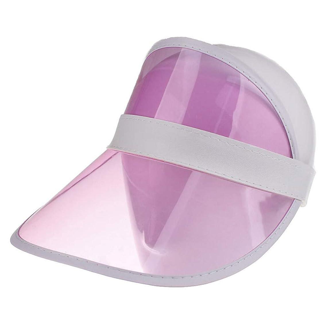持っているインフラ助言レディースクリアハット帽子レインバイザー UVカットユニセックスアウトドア野球帽帽子
