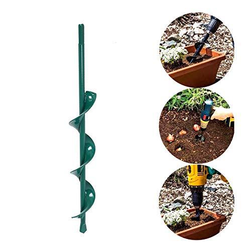 Antideslizante Planta de jard/ín Bulbo de Flor Hex Eje Broca Barrena Hexagonal de Tierra para la plantaci/ón de Jardines Floraci/ón de Suelo Suelto Broca de barrena