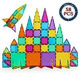BMAG Magnetic Building Blocks, 3D Magnetic Building Tiles Set, STEM Preschool Magnet Tile Construction Toys Educational Puzzles